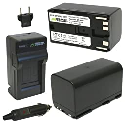 Wasabi Power Battery (2-Pack) and Charger for Canon BP-950G, BP-955 and Canon EOS C100, EOS C100 Mark II, EOS C300, EOS C300 PL, EOS C500, EOS C500 PL, GL2, XF100, XF105, XF200, XF205, XF300, XF305, XH A1S, XH G1S, XL H1A, XL H1S, XL2