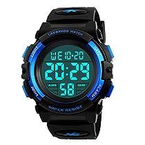 Reloj Niño,Reloj Digital para Niños, Deportivos LED 5ATM Impermeable Alarma Calendario Multifunción Cronógrafo Reloj De