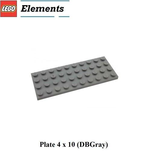 Lego Parts: Plate 4 x 10 (DBGray)