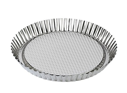 Zenker Tin Plated Steel Flan/Tart Pan, 11-Inch (Quiche Springform Pan)