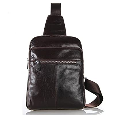46b8252cdb low-cost Genda 2Archer Small Leather Chest Bag Crossbody Backpack for Men  and Boys