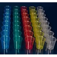 80 Stück Medikamentenbecher Schnapsgläser Medizinbecher Schnapsbecher Farbe: transparent