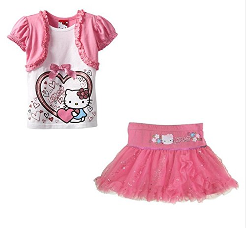 Hello Kitty Toddler Girl Pink Bolero Shirt and Tutu -