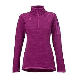 Burton Women's AK Lift Half Zip Fleece Top, Heathered Grapeseed, Medium