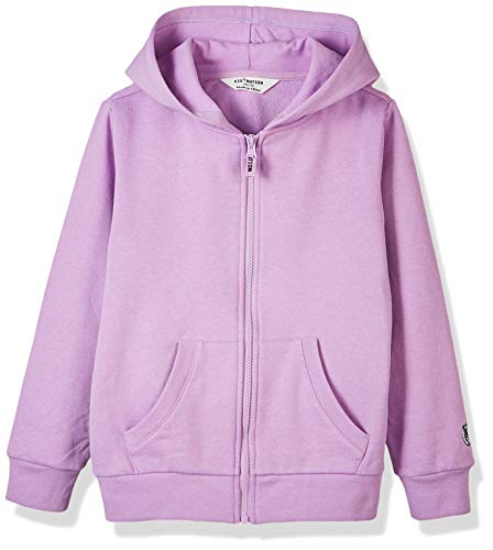 Kid Nation Kids' Brushed Fleece Zip-up Hooded Sweatshirt for Boys Girls L -