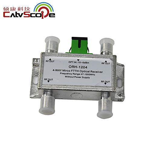 CATVSCOPE FTTH Optical Receiver 4 Way catv Micro ftth Passive Mini Optical Node Sliver