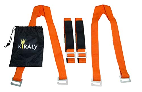 Kiraly Products, LLC Moving Straps; Carry Furniture, Appliances, Mattresses, or any Heavy Object Safely and Easily; Move like the Pros with 2 Person Shoulder and Padded Forearm Straps for Lifting