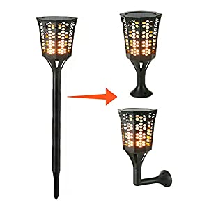FVTLED 2 Pack Path Torches Dancing Flame Lighting Waterproof Flickering Flames Outdoor Landscape Decoration Lighting Table Lamp for Garden Patio Deck Yard Driveway