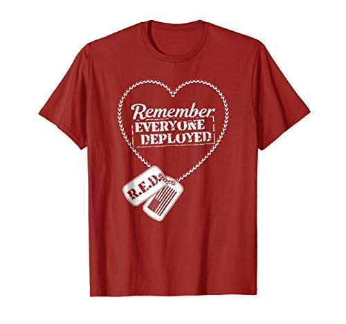 (Distressed R.E.D. Friday T-shirt Remember Everyone Deployed)