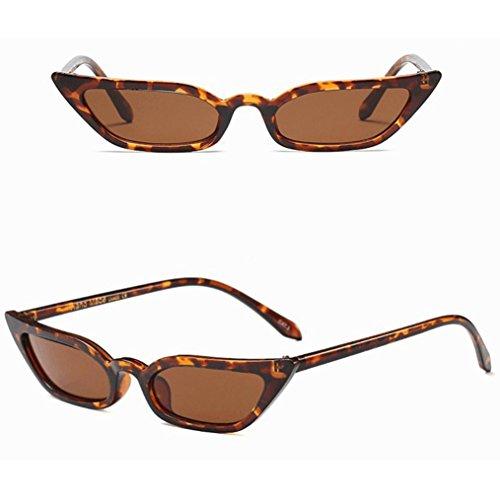 Lunettes Marron Femmes Glasses URSING Sunglasses Lunettes cadre UV400 rétro lunettes Lunettes Cat Fashion Vintage De Eye De soleil Eyewear Soleil de petit Ladies Fashion Anti Soleil Reflet De pqBqd6Ax