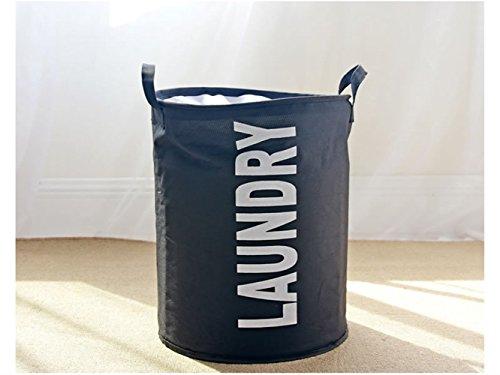 Gelaiken Lightweight LAUNDAY Pattern Storage Basket Storage Bag Cotton Storage Box Sundries Storage Bucket(Black) by Gelaiken