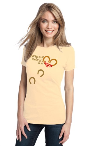 HORSES LEAVE HOOFPRINTS ON OUR HEART Ladies' T-shirt / Horse Riding 4H Tee