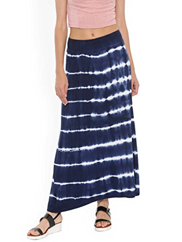 De Moza Blue Tie-Dyed Maxi Skirt