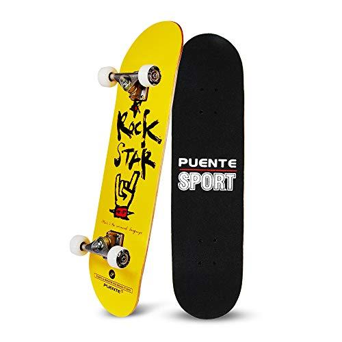 YF YOUFU 31 Inch Complete Skateboard, 7 Layer Canadian Maple Wood Double Kick Concave Skateboards, Tricks Skate Board for Beginners and Pro, Skateboard Boy, Girl, Men, Women (Best Type Of Skateboard For Beginners)