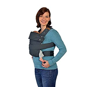 Marsupi Compact Front and Hip Baby Carrier in Charcoal