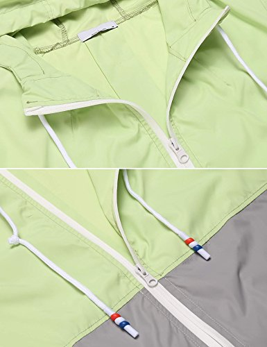 lunga cappotto Coorun casuale Verde del pioggia giacca manicotto con nuove casuale delle del Chiaro cappuccio donne di wx7qrYCzw