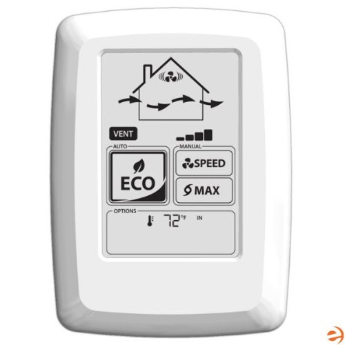 Fantech ECO-Touch Electronic Programmable Wall Control manual or automatic ECO operation ()