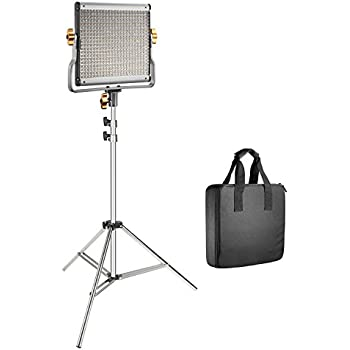 Dimmable Bi-Color LED Panel with U Bracket 3200-5600K, CRI 96+ Neewer 480 LED Video Light and Stand Lighting Kit and 75-Inch Light Stand for Photo Studio Portrait YouTube Video Photography