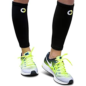 Calf Compression Sleeve for Men & Women (1 Pair) - Instant Shin Splint Support, Leg Pain Relief, Circulation and Recovery Socks - Calf Sleeves for Runners, Traveling, Nurses, Varicose Veins, Cramps