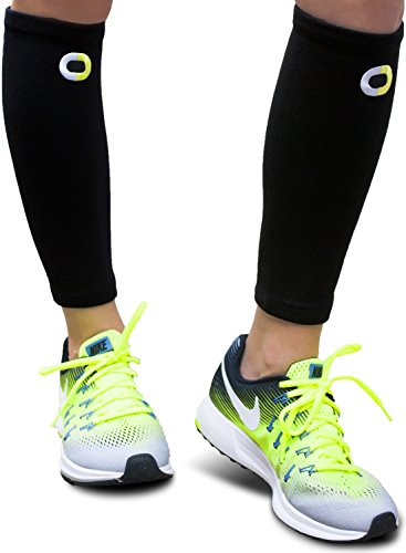 Calf Compression Sleeve for Men & Women (1 Pair) - Instant Shin Splint Support, Leg Pain Relief, Circulation and Recovery Socks - Calf Sleeves for Runners, Traveling, Nurses, Varicose Veins, - Runners Double Down