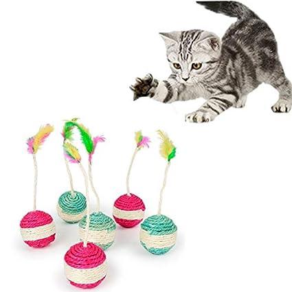 Amazon com: Cat Toys - Pet Cat Kitten Toy Rolling Sisal