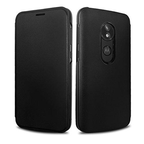 Moto E5 Play Flip Case, Lenovo Original Flip Cover with Card Slot Shockproof Edge Protective Slim Folio Flip Case for Moto E5 Play