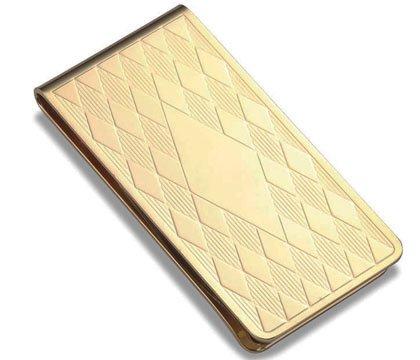 Aeropen International MC-257G Gold Gilt Plated Metal Money Clip