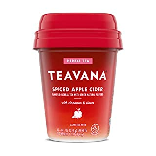 Teavana Spiced Apple Cider, Herbal Tea With Cinnamon & Cloves, Caffeine Free (4 Pack, 48 Sachets Total)