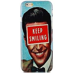 GX mantener la sonrisa caso trasero duro patrón para el iPhone 6 Plus