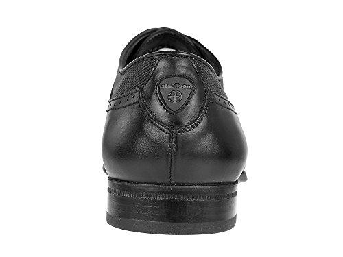 Strellson - Zapatos de cordones para hombre Negro negro Negro - negro