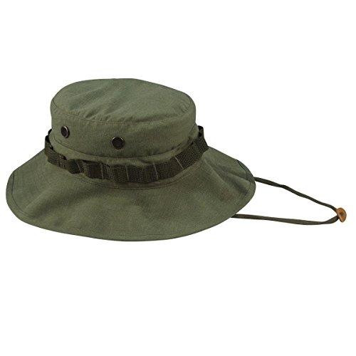 Boonie Hat Olive Drab - Rothco Vintage Vietnam Style Boonie Hat, Olive Drab, 7.75