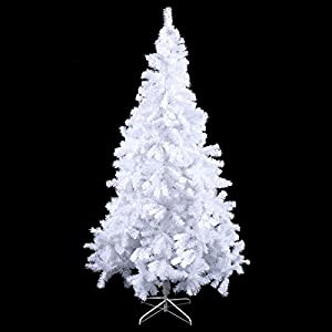 Toolsempire Artificial 5/6/7/8 Ft White Christmas Tree Spruce Tree with Solid Metal Legs Perfect for Indoor and Outdoor Holiday Decoration 59