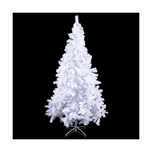 Toolsempire-Artificial-5678-Ft-White-Christmas-Tree-Spruce-Tree-with-Solid-Metal-Legs-Perfect-for-Indoor-and-Outdoor-Holiday-Decoration