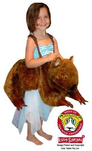 Safari Plush Costume Wombat- One Size