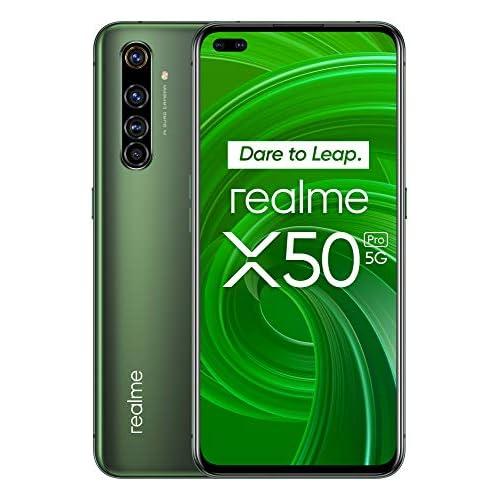 chollos oferta descuentos barato realme X50 Pro Smartphone 5G de 6 44 8 GB RAM 128 GB ROM procesador OctaCore Qualcomm Snapdragon 865 cuádruple cámara AI 64MP MicroSD Moss Green Versión ES PT