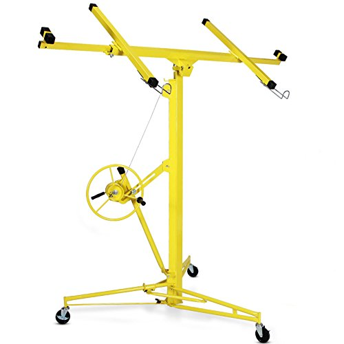 Eight24hours 16-19' Drywall Rolling Lifter Panel Hoist Jack Caster Construction Lockable Tool Specail Gift with Alarm Clock Radio Digital Rolling Stilts