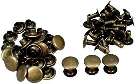 ファミリーツール(FAMILY TOOL)片面カシメ 小 (頭径6mm×足長8.5mm) アンティークゴールド 40組入 56191
