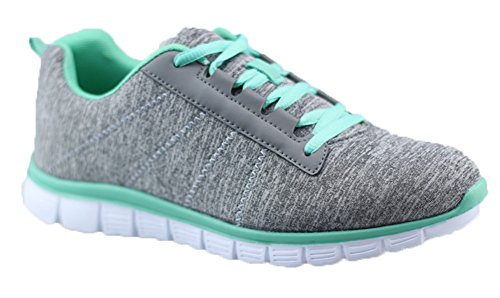 Womens+%287%2C+Green%29+Athletic+Knit+Mesh+Running+Sneaker+Light+Weight+Go+Easy+Walking+Casual+Athletic+Comfort+Running+Shoes+Sneakers