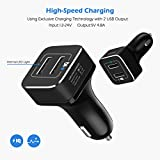 YCCTEAM Car Charger for Switch, 5V/4.8A Dual USB
