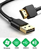 USB to HDMI Adapter Cable for Mac iOS Windows