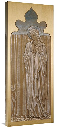 Global Gallery Budget GCS-264642-36-142 Sir Edward Burne-Jones The Virgin Mary: A Cartoon for Stained Glass Gallery Wrap Giclee on Canvas Print Wall Art