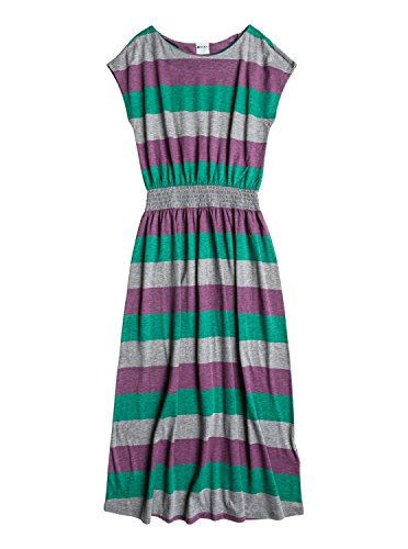 Roxy Big Girls' Sandy Toes Knit Dress, Sunrise Argyle Purple Stripe, 8/Small