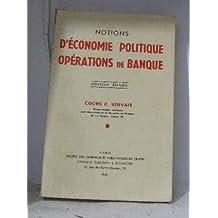 Notions d'économie politique opérations de banque