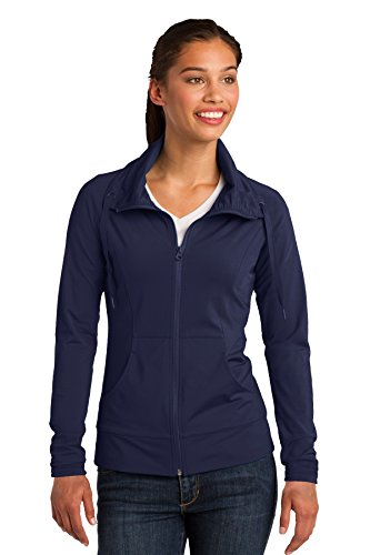 Sport-Tek Ladies Sport-Wick Stretch Full-Zip Jacket. LST852 True Navy M