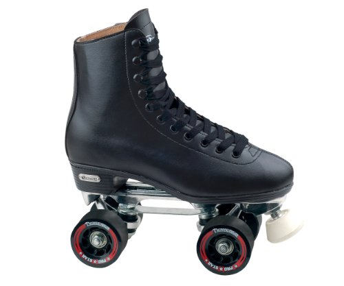 Chicago Men's Leather Lined Rink Roller Skate (Size 9), Black (Adult Roller Skates)