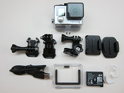 GoPro HERO 4 Silver Edition 12MP Waterproof Sports & Action Camera with Standard and Skeleton Housing, 3-way Pivot Arm and 2 Adhesive Mounts (Certified Refurbished)