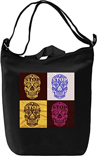 Pop Art Skulls Borsa Giornaliera Canvas Canvas Day Bag| 100% Premium Cotton Canvas| DTG Printing|