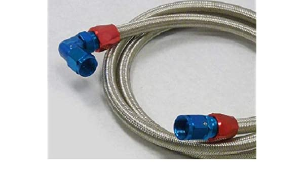 OBX Racing Universal 6AN Stainless Steel Braided Fuel Line with AN Fittings
