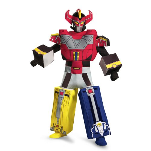 Disguise Sabans Mighty Morphin Power Rangers Megazord Mens Adult Costume, Multi, X-Large/42-46