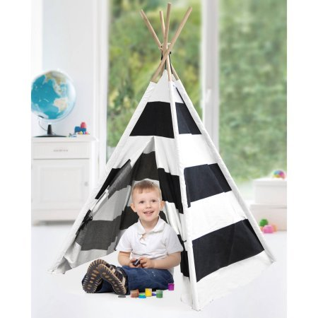 Space Module Play Tent (American Kids Awesome Tee-Pee Tent, Rugby Stripe)